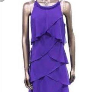 Purple chiffon cocktail dress